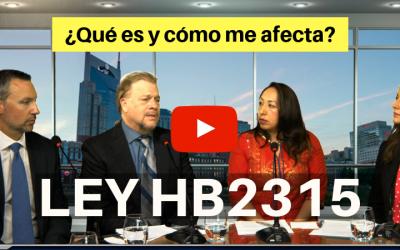¿Qué es la HB2315 y cómo me afecta?