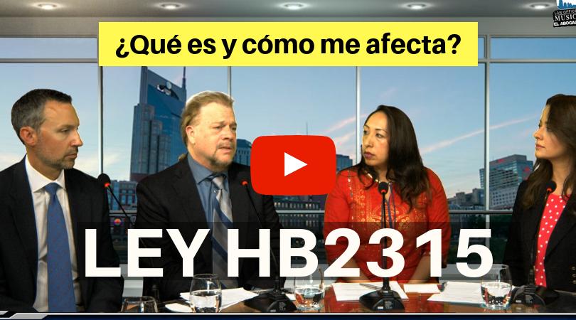 LEY HB2315 Que es y como me afecta _